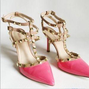 Bcbgeneration pink studded heels